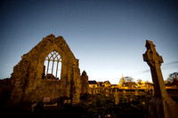 Night view of Athenry Dominican Friary